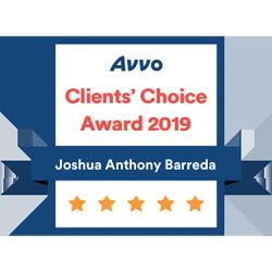 Joshua Barreda Law - Family Law & Divorce Lawyer Avvo Clients Choice